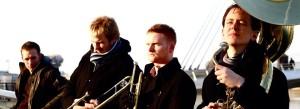 Hot Botz, brass band manchester, dance music manchester, live music brass band, festivals band, drum and bass brass, Joel Cooper trumpet, party band north west, street brass band