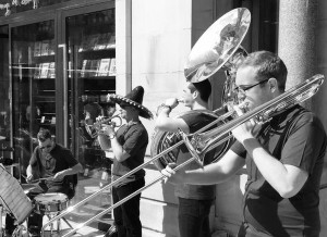 Hot Botz Brass Band, Manchester, Wahaca, corporate event, live music manchester, northwest live music, london live brass, brass band for event,